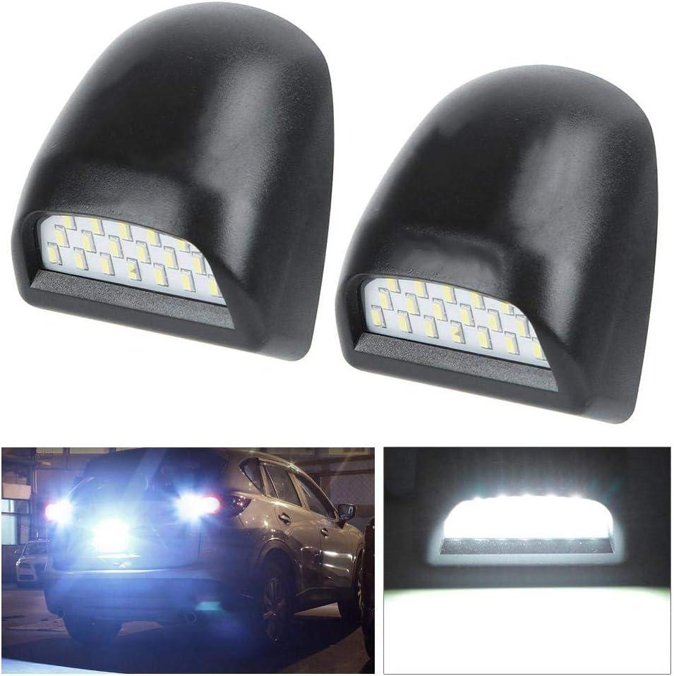 Akozon Lampe de plaque dimmatriculation 2pcs SMD 6000K LED Lampe de plaque Set Fit pour Silverado Avalanche 1999-2013