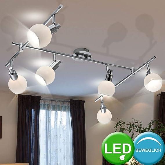 LED Design Decken Leuchte Chrom Spot Leiste Strahler Wohn Zimmer Lampe beweglich