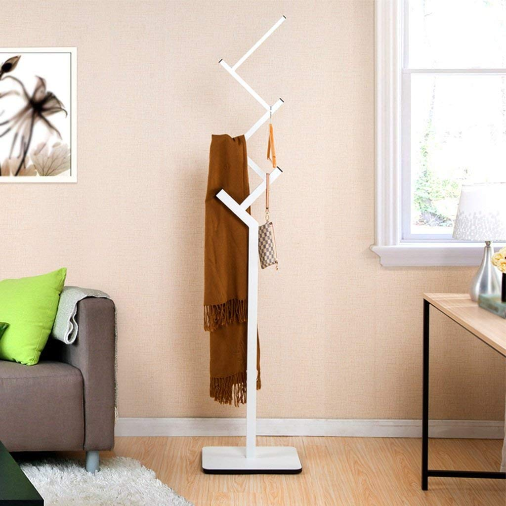 SED Coat Rack-Hanger Floor Bedroom European Style Floor Hall Wooden Seat Hangers Entrance Office Living Room Sturdy Space Saving Storage Rack,White by SED (Image #2)