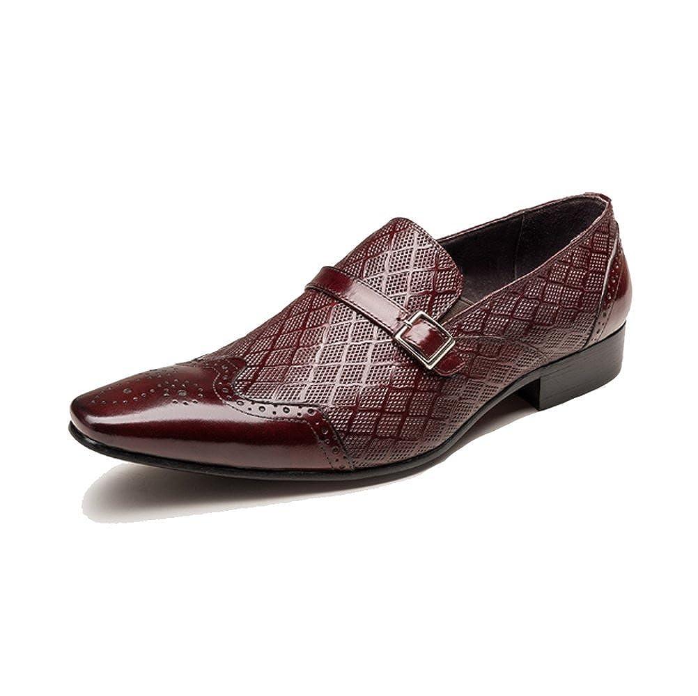 NIUMJ Männer Geschnitzt British Business Atmungsaktiv Outdoor Faule Schuhe