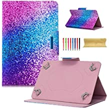 "Coopts Universal 7 Inch Tablet Case, Colorful Painting Stand Wallet Case for Samsung Galaxy Tab/Amazon kindle fire 7.0/Huawei Mediapad/Google and More 6.5""-7.5"" inch Tablet, Rainbow Sand"