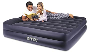 intex air mattress reviews Amazon.com: Intex Pillow Rest Raised Airbed with Built in Pillow  intex air mattress reviews