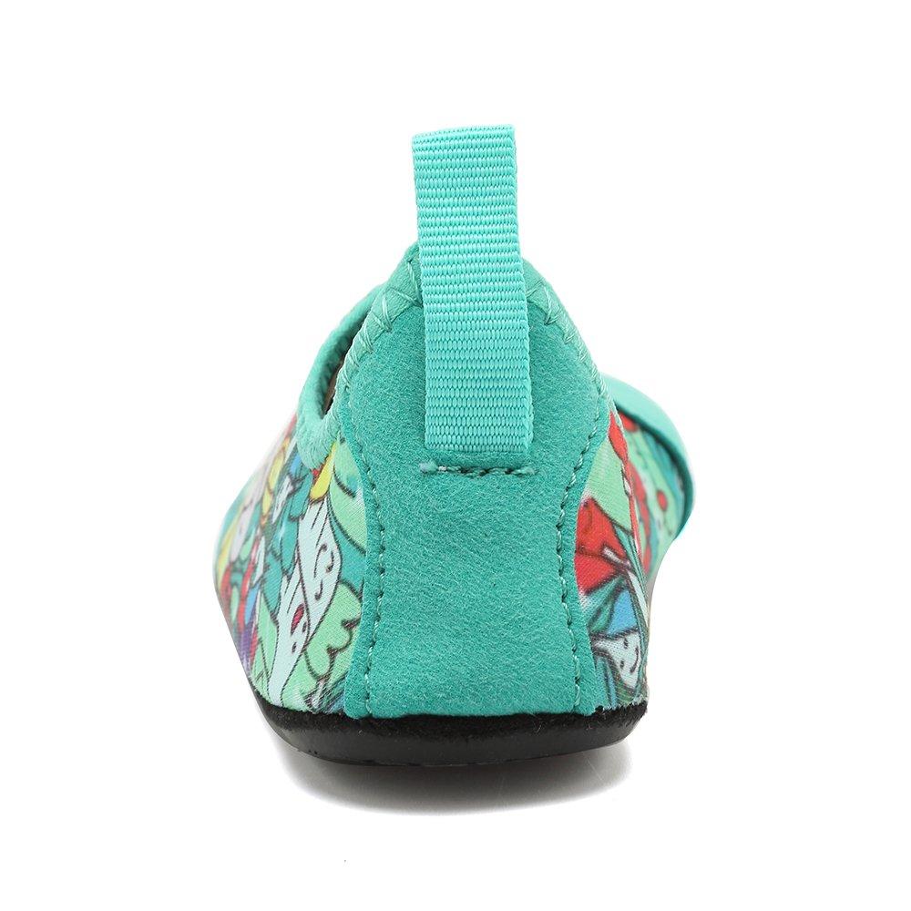 HooyFeel Cute Kids Toddler Sneakers Lightweight Slip on Swim Water Shoes Aqua Barefoot Socks for Baba Boys and Girls