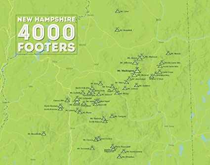 Amazon.com: Best Maps Ever New Hampshire 4000 Footers Map 11x14 ...