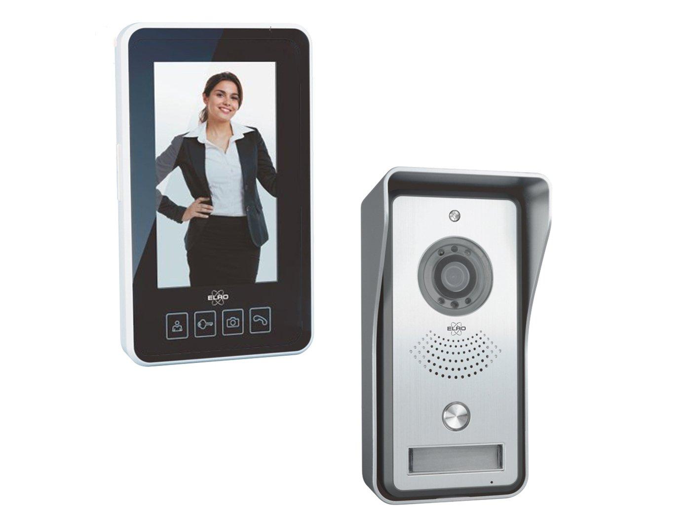 kabellose ELRO Video T/ürsprechanlage mit tragbarem 11cm Innenbildschirm /& T/ür/öffner Digitale