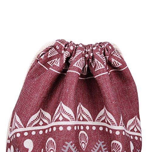 Miomao Drawstring Backpack Gym Sack Pack Mandala Style String Bag With Pocket  Canvas Sinch Sack Sport 1bca1c9793610