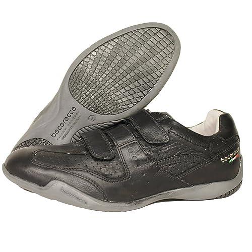 BOCOROCCO - Mocasines de cuero para hombre negro negro, color negro, talla 40: Amazon.es: Zapatos y complementos