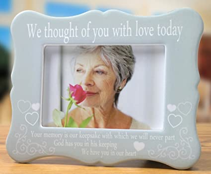 Memorial Frame We Thought Of You With Love Today Ceramic Plaque