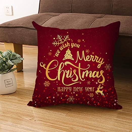 HOLD HIGH Fundas de Almohada de Navidad con diseño de Copo ...