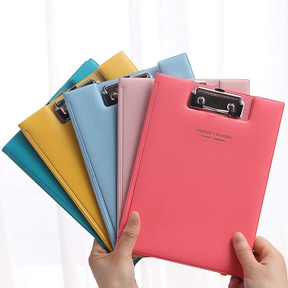 Flip Cover Paperboard Clipboard, Pack of 5 Mixed Colors, Mini Writing Board for Student, Office, Warehouse, A5 Letter Size Clipboard, 9.25 X 6.89 Inch
