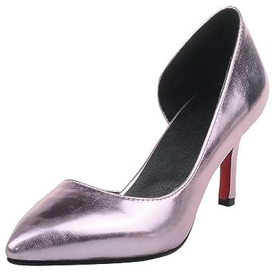 AIYOUMEI Spitz Pumps mit 7cm Absatz Stilettos High Heels Hochzeit Schuhe Damen