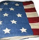 """Ralph Lauren American Flag 60"""" X 70"""" Throw Blanket"""