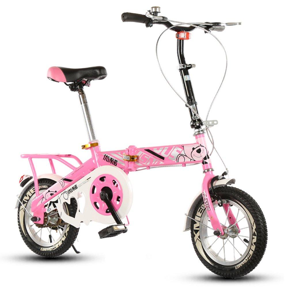 子供の折りたたみ自転車、12-14-16-20インチの男子学生自転車6-8-10-12歳の乳母車 ( 色 : Pink-A , サイズ さいず : 12 inch ) B07CNBGYM6 12 inch Pink-A Pink-A 12 inch