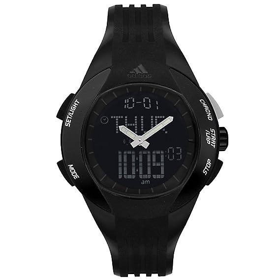 adidas Performance - Reloj digital de cuarzo para hombre con correa de plástico, color negro: Adidas: Amazon.es: Relojes