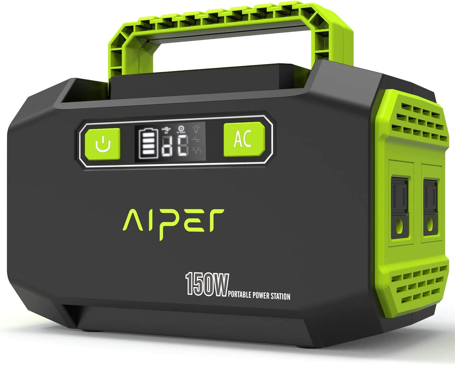 AIPER Portable Power Station 167Wh 45000mAh Solar Generator Lithium Battery Backup Power Supply with Dual 110V AC Outlet, 3 DC Ports, 2 USB Outputs for Home Emergency Camping Outdoors