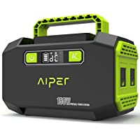 AIPER Portable Power Station 167Wh 45000mAh Solar Generator Lithium Battery Backup Power Supply with Dual 110V AC Outlet, 3 DC Ports, 2 USB Outputs for Home Emergency Camping CPAP Outdoors