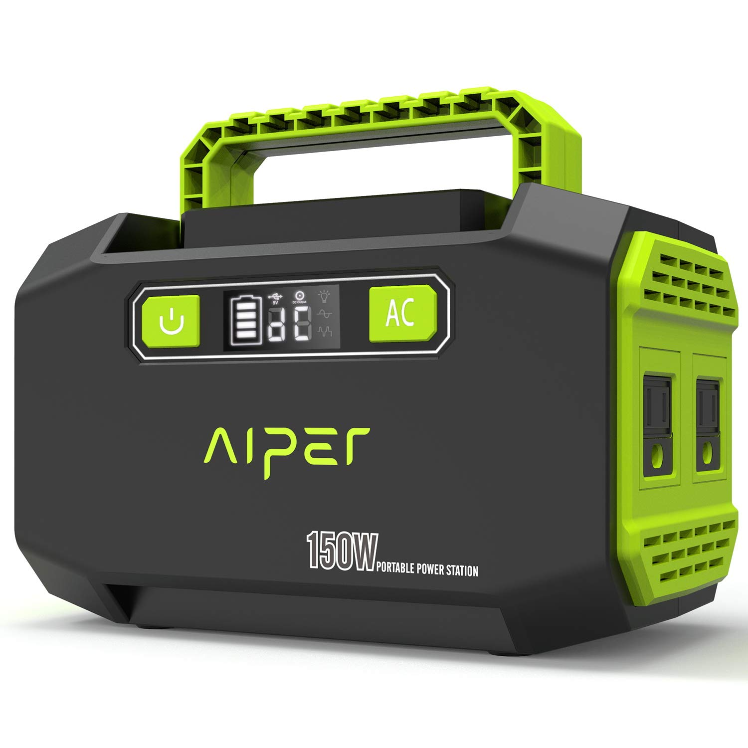 AIPER Portable Power Station 167Wh 45000mAh Solar Generator Lithium Battery Backup Power Supply with Dual 110V AC Outlet, 3 DC Ports, 2 USB Outputs for Home Emergency Camping CPAP Outdoors by AIPER (Image #1)