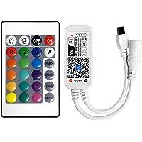 WiFi Smart RGB (W) LED-stripcontroller + infrarood afstandsbediening (IR) 24 toetsen, draadloos, voor kleurrijke…
