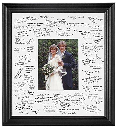 Wedding Signature Mat Set for 8x10 Photo (Black) ()