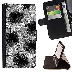Momo Phone Case / Flip Funda de Cuero Case Cover - Arte de la flor florece Diseño - Samsung Galaxy Core Prime