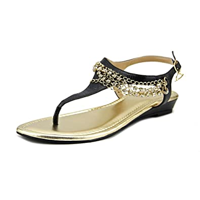 Thalia Sodi Zella Open Toe Synthetic Thong Sandal Black Size 100