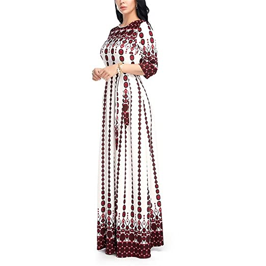 Amazon.com: Maxi Long Dress Female Summer Elegant Plus Size Dresses For Women NEW Lace Half Sleeve Floral Vintage Ladies Bohemian Vestido: Sports & Outdoors