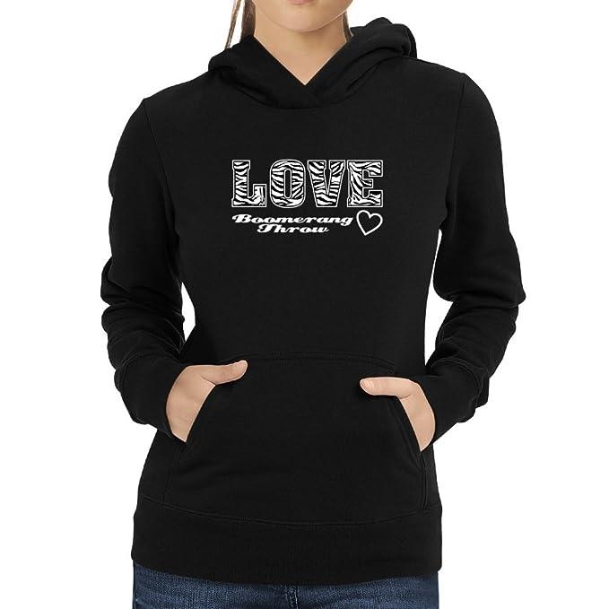 Eddany Love Boomerang Throw Sudadera con capucha para mujer: Amazon.es: Ropa y accesorios