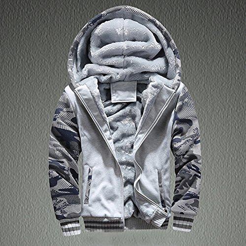Theshy Mens M-4XL Winter Warm Fleece Hood Zipper Sweater Jacket Outwear Coat Sportswear for Men