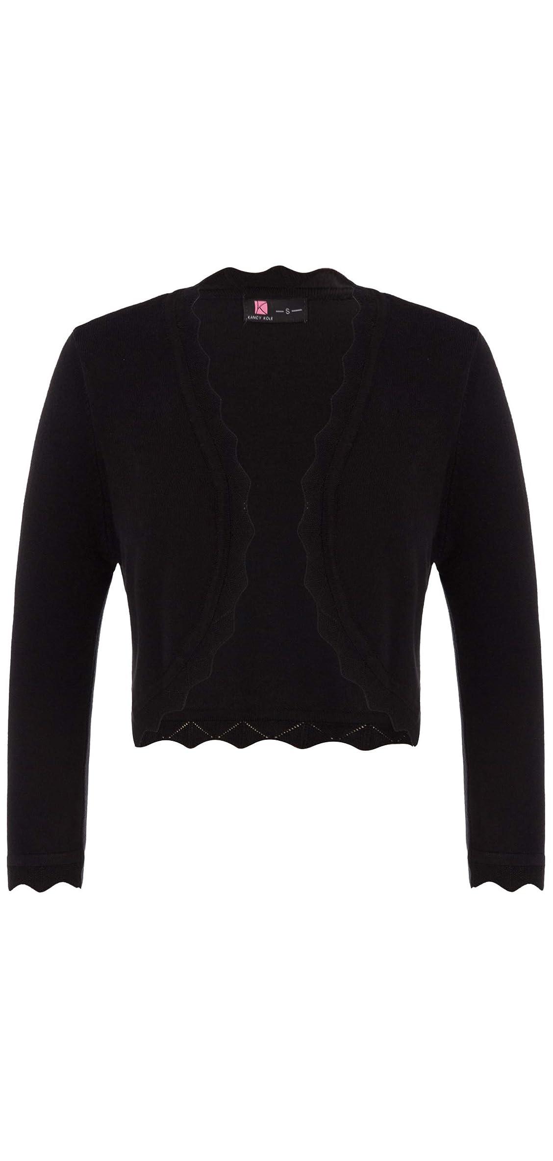 Women's / Sleeve Open Front Knit Cropped Bolero
