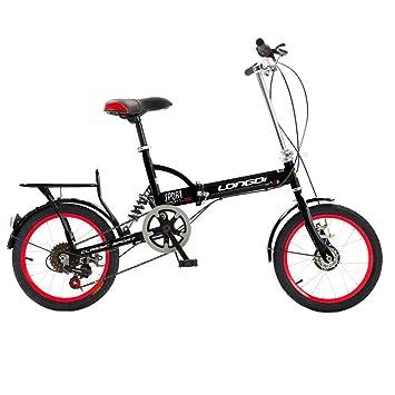 LETFF Bicicleta Plegable para Adultos Bicicleta de montaña de 20 Pulgadas con Cambio de Velocidad Ultra