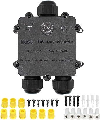 Huyu IP68 resistente al agua caja de derivación conector externo ...
