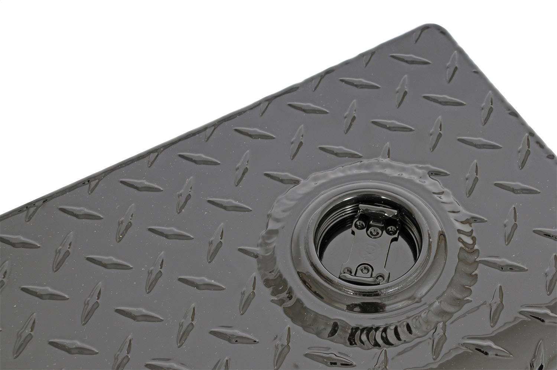 Dee Zee DZ92556B Liquid Transfer Tank Volume 76.2 Gallons L 56 in. x W 20 in. x H 20 in. Wedge Shape Black-Tread Aluminum Liquid Transfer Tank
