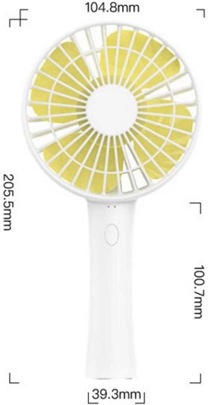Mini Portable Cooling Fan Handheld Personal Fan Mini USB Rechargeable Desktop Fan Mute Portable Electric Fan Detachable Base Color : 02