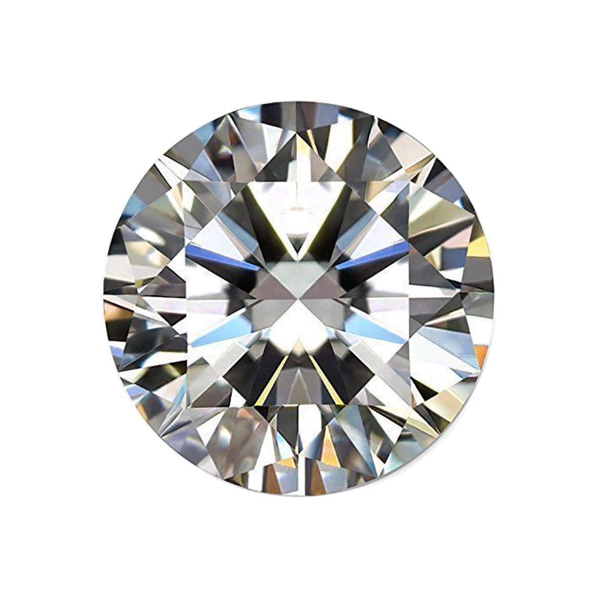 Gemhub Moissanite Diamond Color DF Loose Stone Excellent Cut Moissanite VVS1 Clarity 0.75 Ct White Moissanite for Jewelry Making