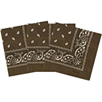 Paisley Bandanas Headband Pack Of 3 Cotton Paisley Print Scarf, Fashion Hair Accessory