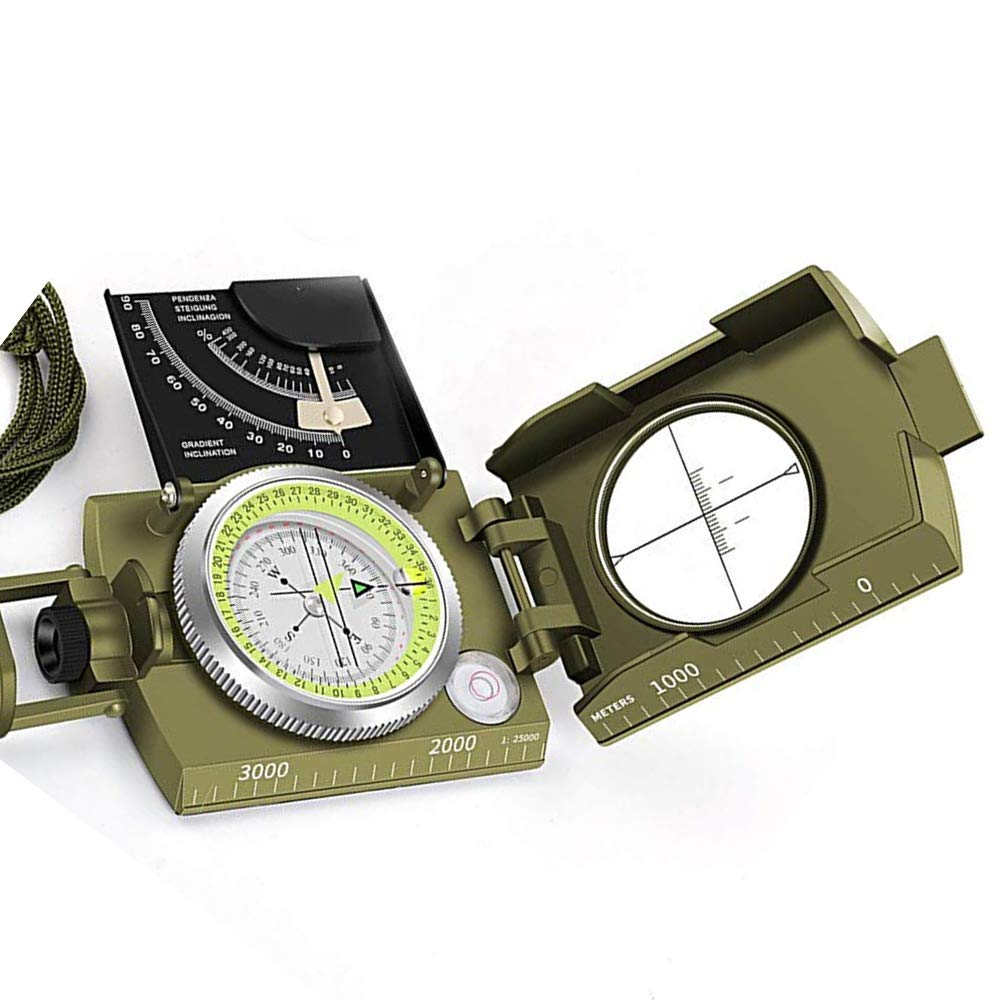 K4074 Multifunction Military Lensatic Sighting Compass with Carrying Bag by SEADOSHOPPING (Image #1)