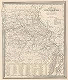 World Atlas   1848 Missouri.   Historic Antique Vintage Map Reprint