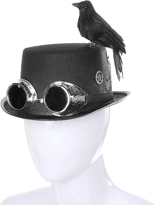 WASAIO Steampunk Cuervo Sombrero Víspera de Todos los Santos ...