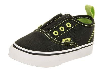 Vans Toddlers Authentic V (Pop Eyelets) Pop Eyelets Black Lime Punch Skate 3195496170