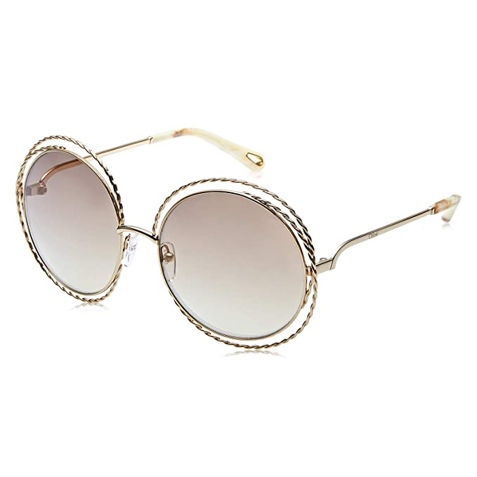 Chloé CE114ST 810 58, Gafas de Sol para Mujer, Gold/Flash ...