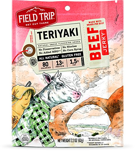 Field Trip Beef Jerky, Teriyaki, 2.2 Ounce