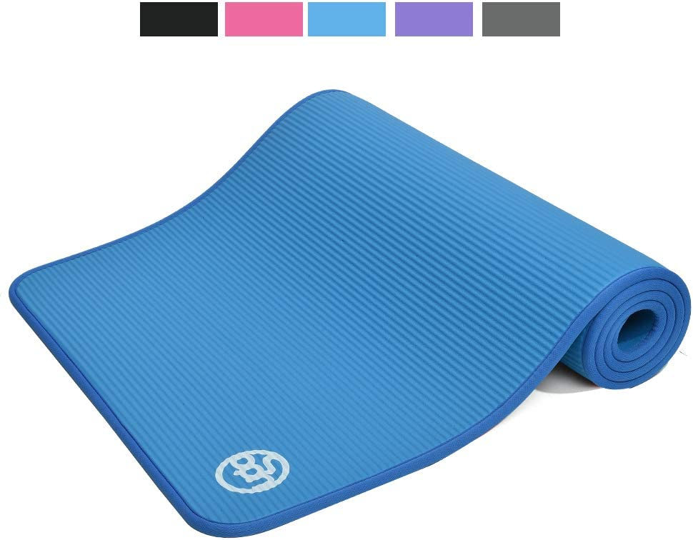UGO 10MM NBR Yoga Exercise MAT Floor Fitness Pilates 71 x 25 High-Density Anti-Tear Odor-Free with Carrying Strap