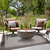 Brown Jordan 48198 Platinum Label Furman Collection Modern Outdoor Patio Rug 9x13, X Large, Charcoal Gray