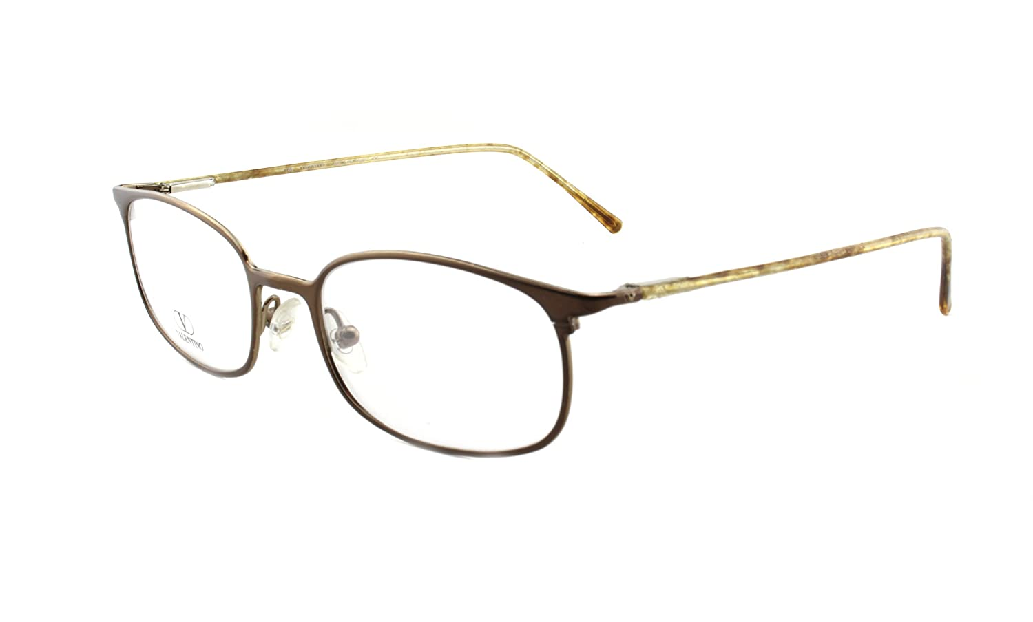 e35798b1ed Amazon.com  New Authentic Valentino 1097 Brown (0N4N) Unisex Eyeglasses  Made in Italy  Health   Personal Care