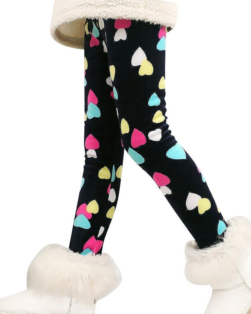 Bambini Ragazze Stampa Leggings Pantalone Caldo Stretch Jogging Pantaloni Leggins