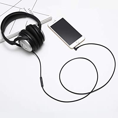 QC15 Replacement Audio Cable Cord Line Compatible with Bose QC15 QuietComfort 15 Headphones