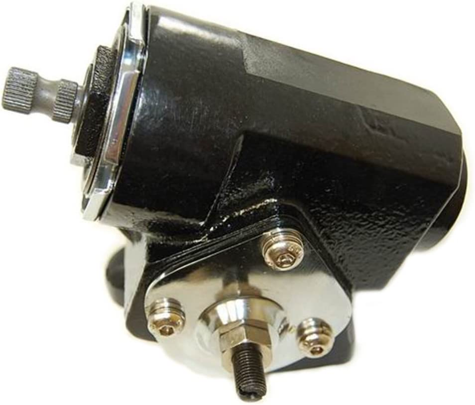 Pirate Mfg Reversed Corvair Black Steering Box 20:1 Ratio W//U-Joint T-Bucket Hot Rat Rod