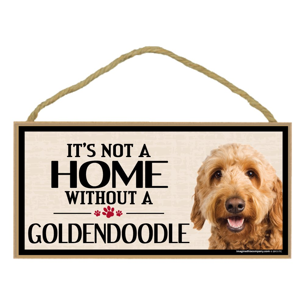 Imagine This Wood Breed Sign, It's All About My Golden Doodle