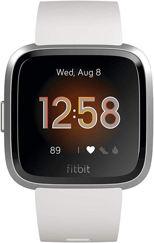Fitbit Versa Lite Relógio Desportivo Smartwatch, Adultos Unissexo, branco/prateado
