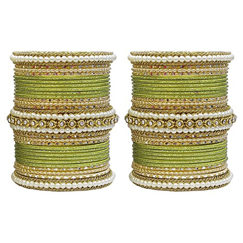 MUCH-MORE Unique 54 Pieces of Multi Color Bangles Set for sale  Delivered anywhere in USA